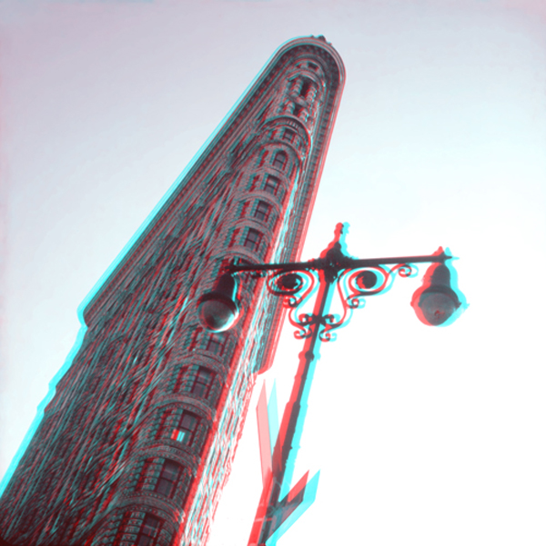 Flat Iron City 3-D Anaglyph