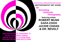 Depthography Art Show featuring Robert Munn, Sara Cook, Jackie Chang & Dr. Revolt Invite Back